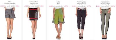 shorts faldas y pantalones