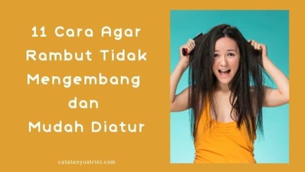 11 Cara Agar Rambut Tidak Mengembang dan Mudah Diatur