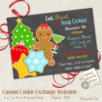 Cookie Exchange, Cookie Swap invitation