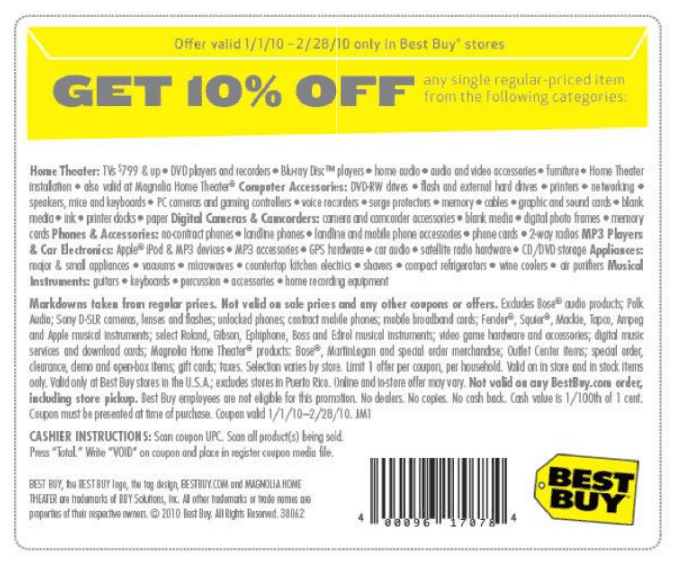 Get the latest December coupons and promotion codes automatically applied at checkout at Best Buy and 20, other top stores.
