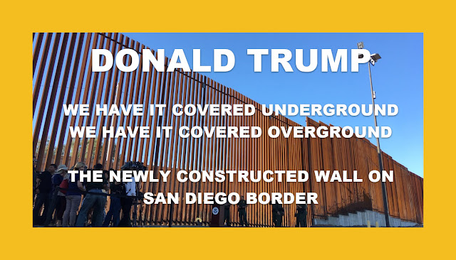 THE NEWLY CONSTRUCTED WALL ON SAN DIEGO BORDER