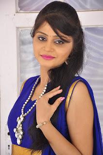 Actress Harisha Krishna Stills in Beautiful Blue Chudiddar  0004.jpg
