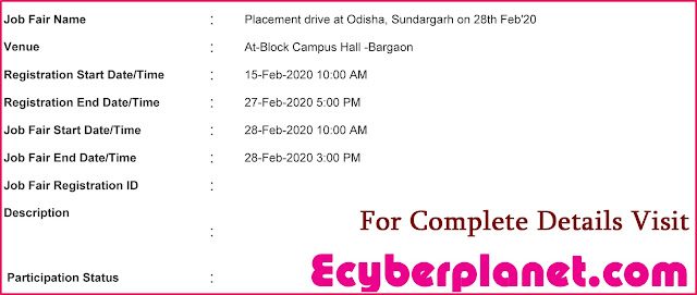 Sundargarh Job Fair