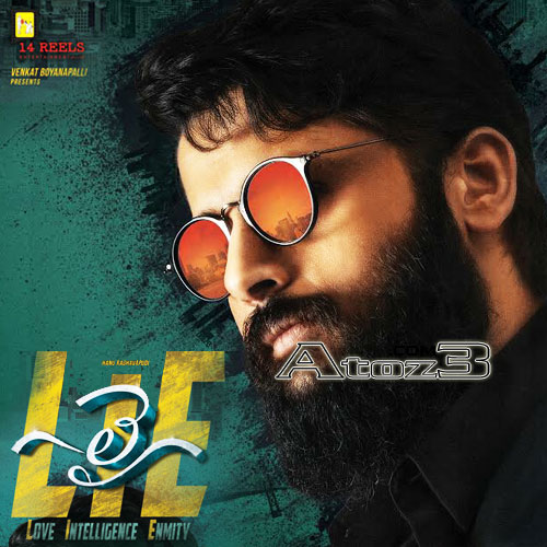 Lie, nithin,telugu,mp3,songs ,audio,cd,cover,poster,stills