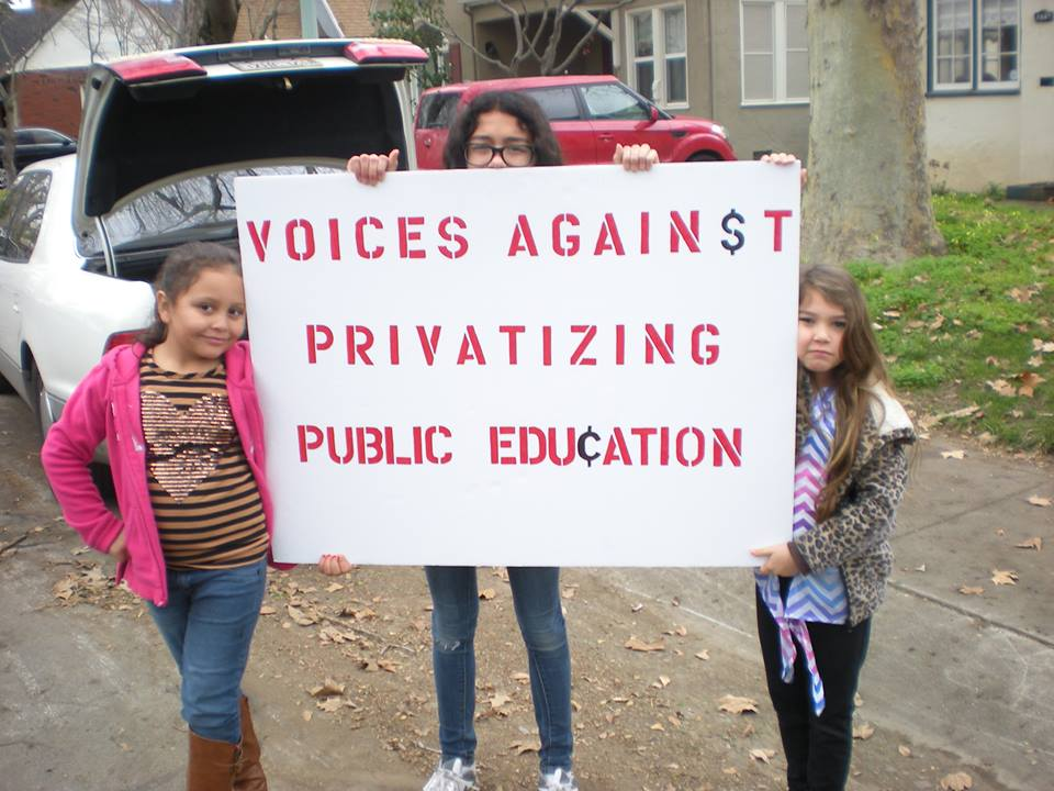 Join Voices Against Privatizing Public Education's efforts to repeal the charter school law