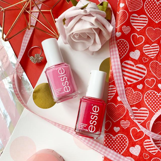 valentine's-nails-flatlay-essie-be-cherry-lovie-dovie
