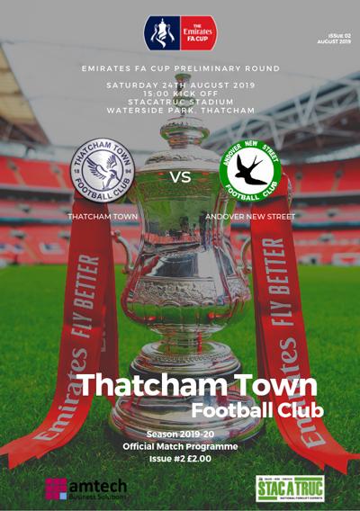 Thatcham Town FC 2019/20 season programme