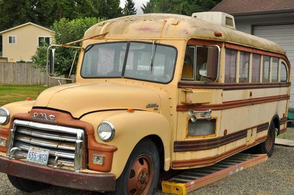 Restoration Project Cars 1954 Gmc School Bus Project