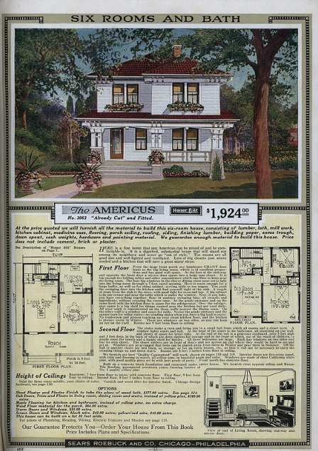 Daily Bungalow image: Sears Americus from 1921 Sears Modern Homes catalog