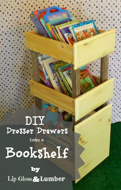 Someday Crafts Diy Dresser Drawers Into A Bookshelf