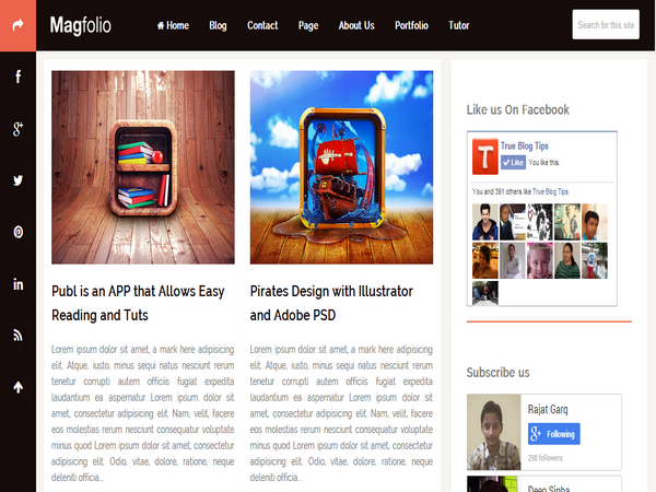 Magfolio Blogger Template