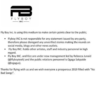 Fly Boy announcement