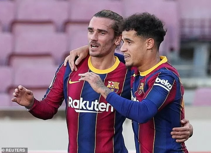Barcelona 'want to keep Antoine Griezmann and Philippe Coutinho'