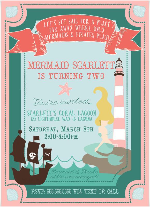 mermaids pirates birthday party
