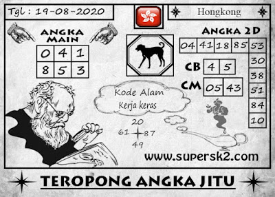 Prediksi Syair HK rabu 19 agustus 2020