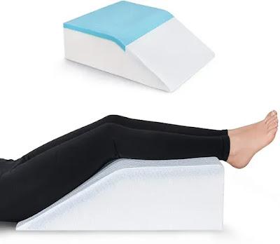 Almohada de Elevación de Piernas con Gel de Enfriamiento
