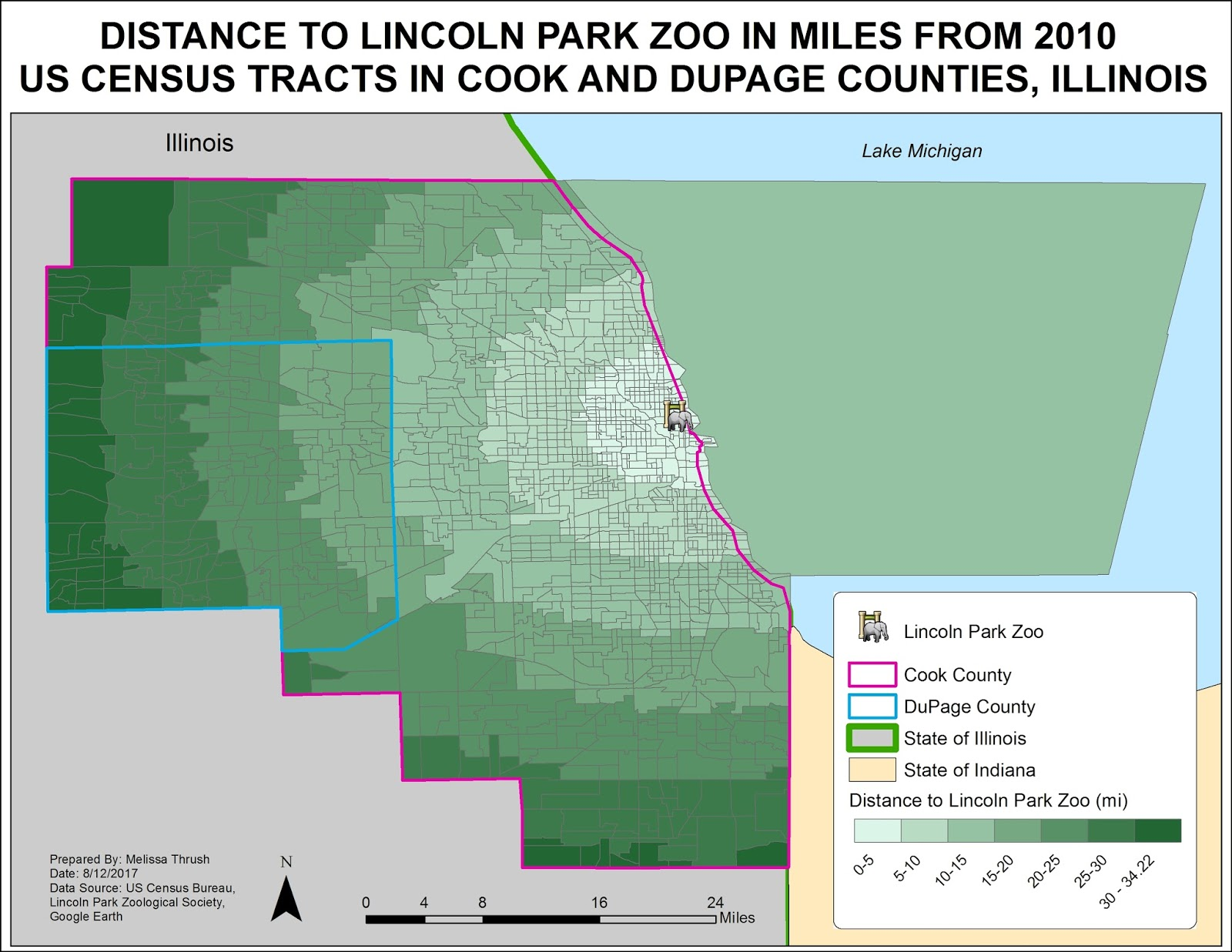 spatial access to lincoln park zoo from 2010