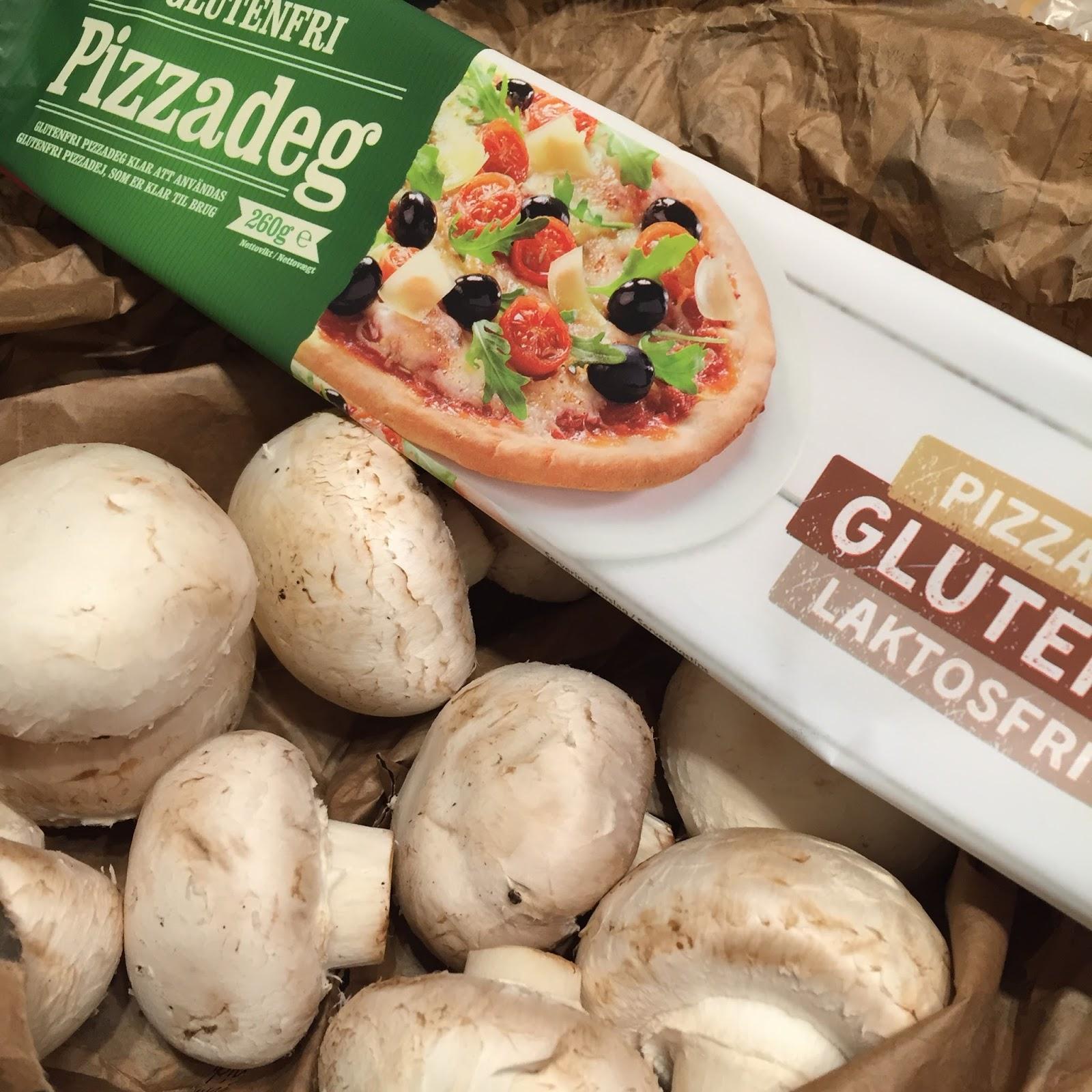 glutenfri pizzabotten färdig