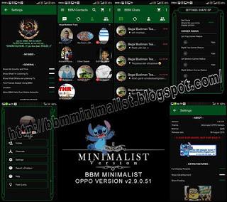 BBM MINIMALIST OPPO Version v2.9.0.51 Apk