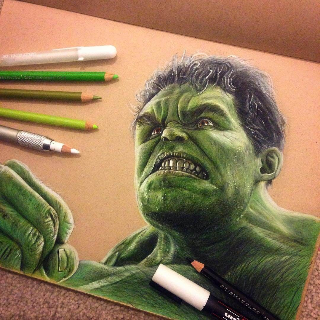 13-Hulk-Chris-Superhero-and-Villain-Realistic-Pencil-Drawings-www-designstack-co
