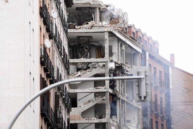 Foto edificio explosion madrid 4