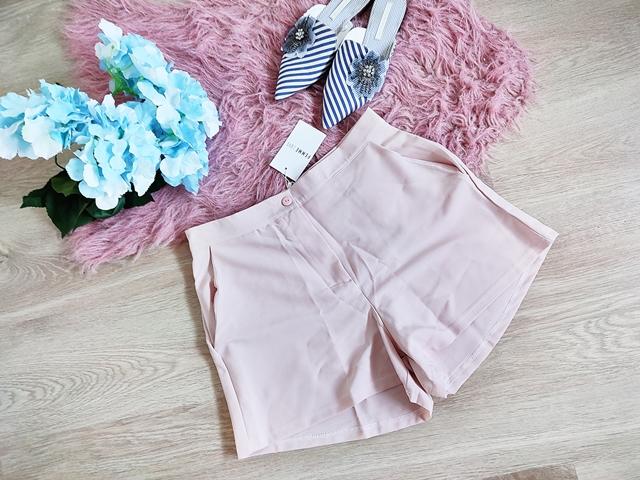 Pink Tailored High Waisted Shorts - Ursa