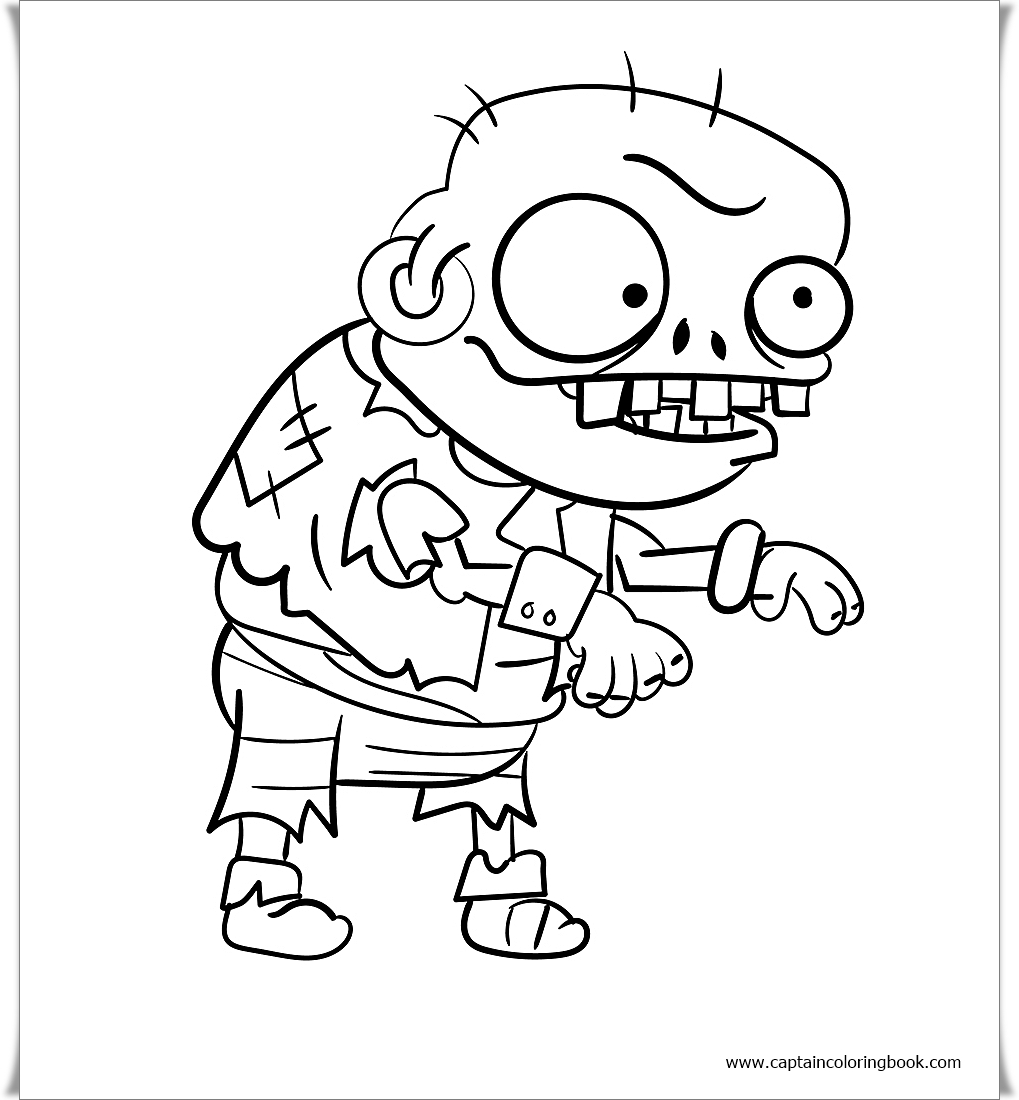 Coloring Page: Zombie Coloring Pages free