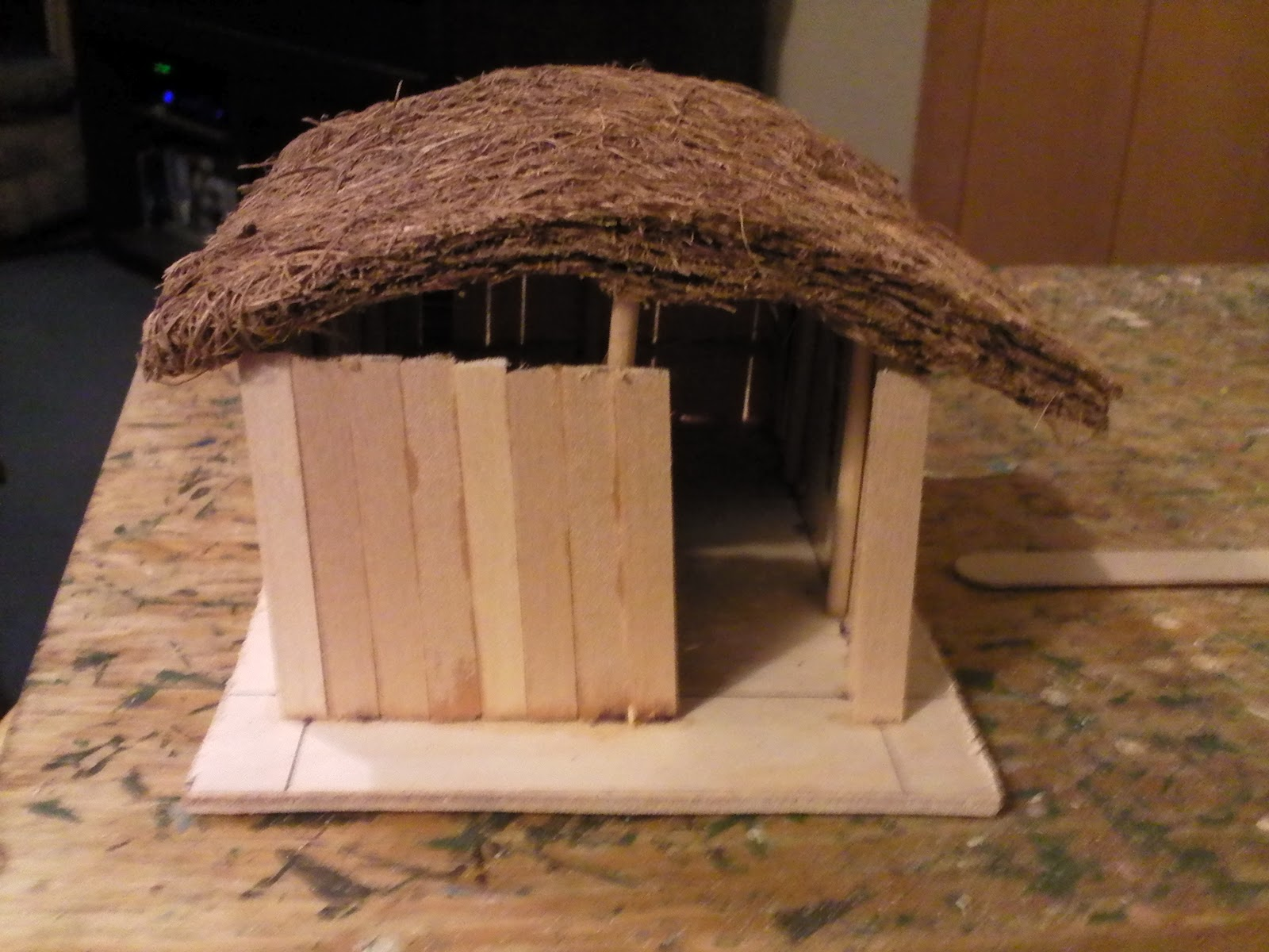 Northwest Historical Miniature Gamer Chickasaw Village Wip