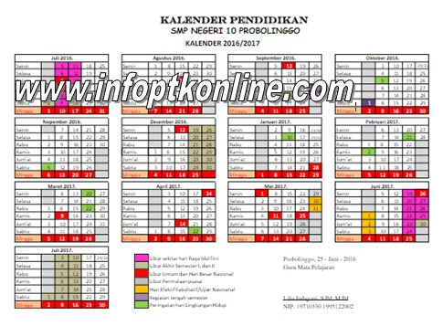 Download Kalender Pendidikan 2016-2017 Lengkap