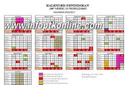 Download Kalender Pendiddikan Tahun Ajaran 2016/2017 Lengkap