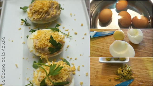 Huevos mimosa receta sencilla ingredientes pasos