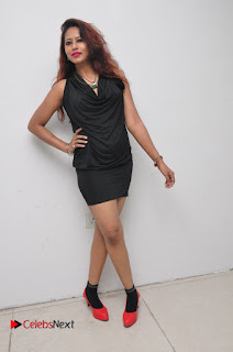 Model Sonia Pictures in Black Dress at Yes Mart Event  0036
