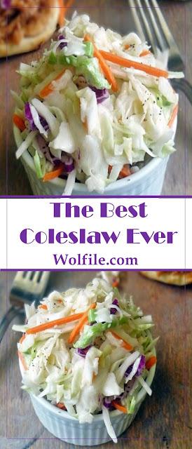 The Best Coleslaw Ever Recipe #Salad