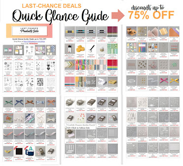 Stampin' Up! 2021 Annual Catalog Last Chance Quick Glance Guide -- 125 deals up to 75% Off!