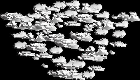 Vector Cloud Pattern PNG 2338