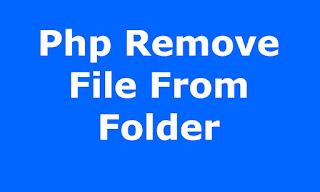 php delete file