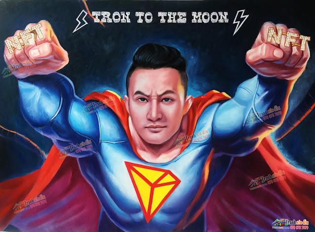 vẽ chân dung siêu nhân theo yêu cầu