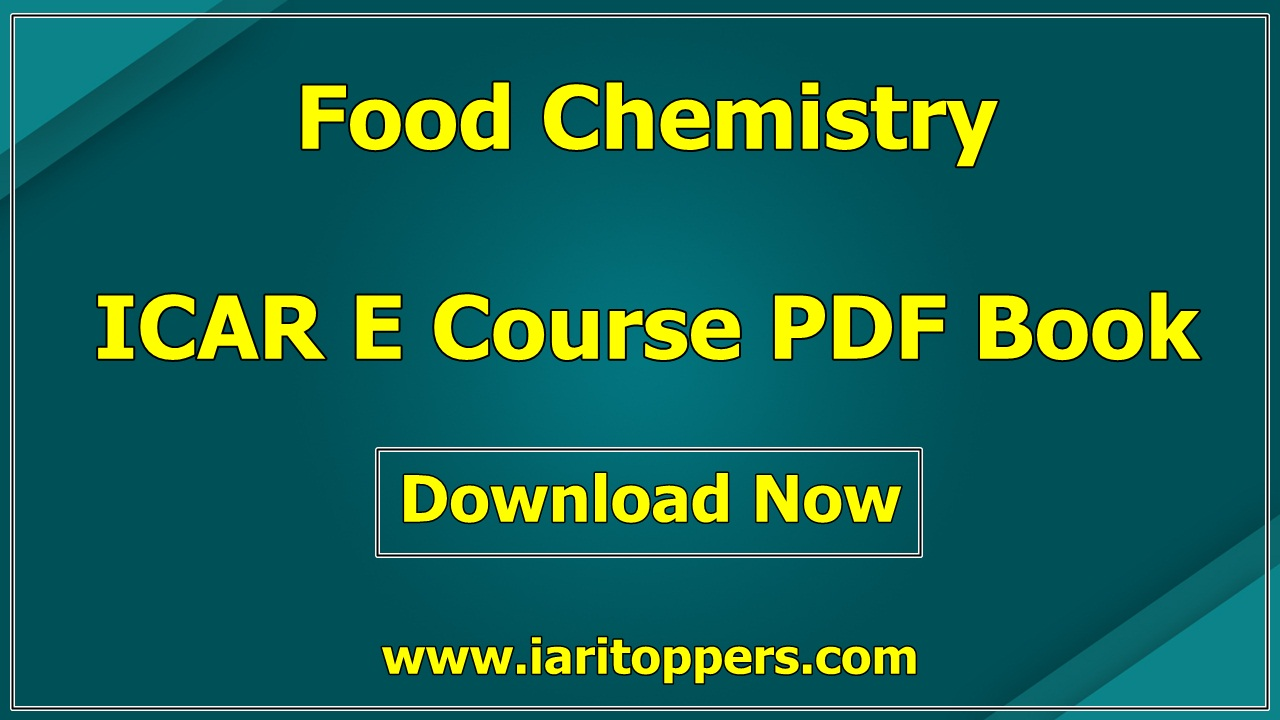 Food Chemistry ICAR e course PDF Book Download E Krishi Shiksha