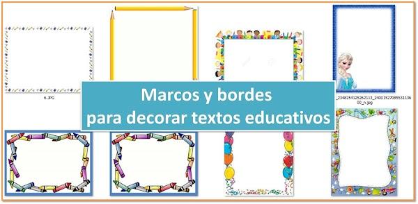 Marcos y bordes para decorar textos educativos