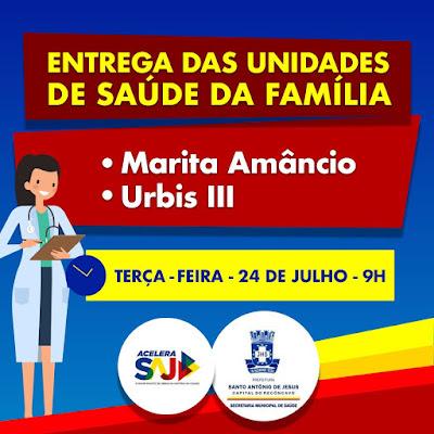 SAÚDE: Prefeitura entrega mais duas USF's reformadas na próxima terça (24)