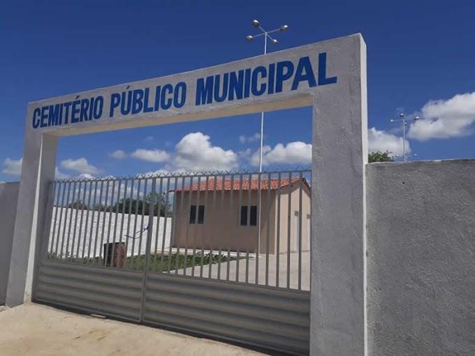 Obra de novo cemitério municipal avança em Bonito de Santa Fé