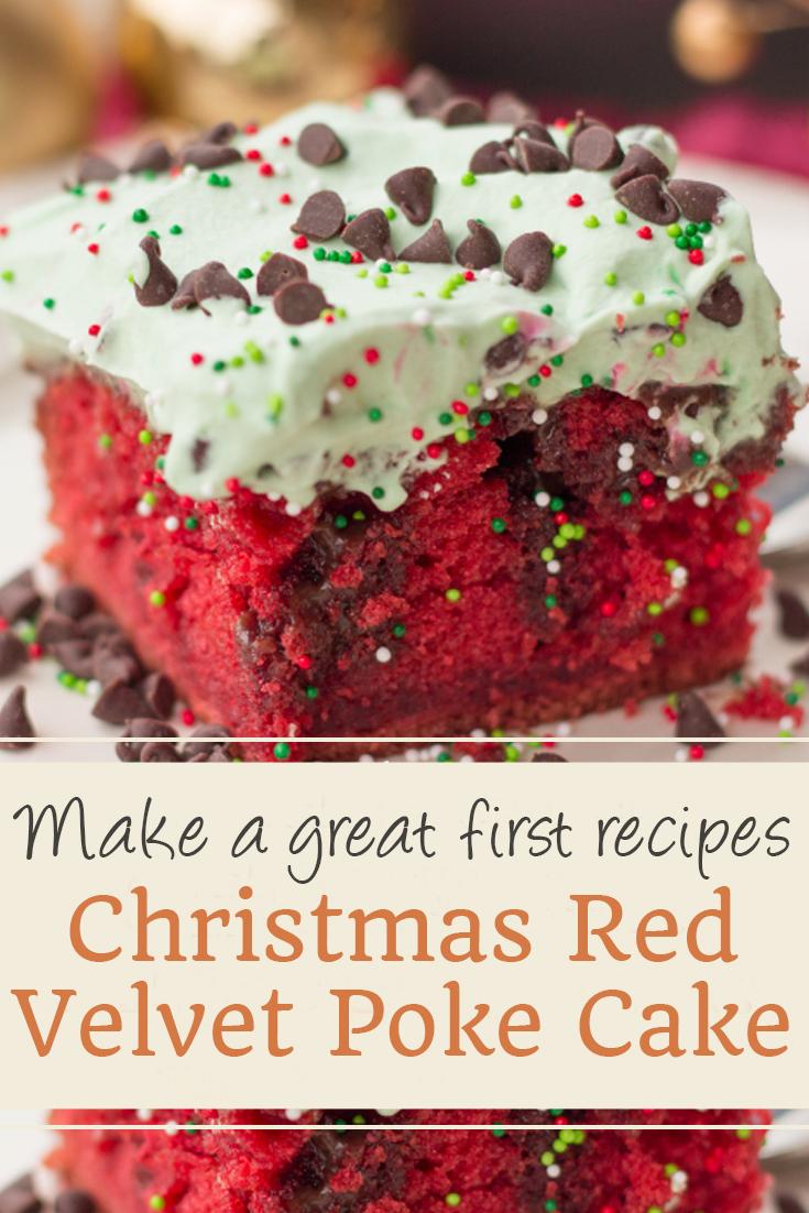 Christmas Red Velvet Poke Cake | Cake Recipes From Scratch, Cake Recipes Easy, Cake Recipes Pound, Cake Recipes Funfetti, Cake Recipes Vanilla, Cake Recipes Bundt, Cake Recipes Homemade, Cake Recipes Chocolate, Cake Recipes Birthday, Cake Recipes Box, Cake Recipes Coffee, Cake Recipes Dump, Cake Recipes Poke, Cake Recipes Sheet, Cake Recipes Healthy, Cake Recipes Strawberry. #christmascake #redvelvet #pokecake #christmasredvelvet