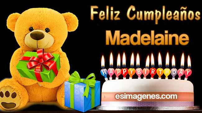Feliz Cumpleaños Madelaine