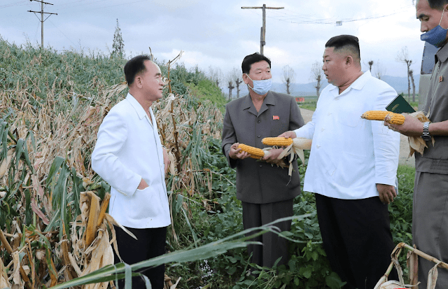 Kim Jong Un visits typhoon-hit areas