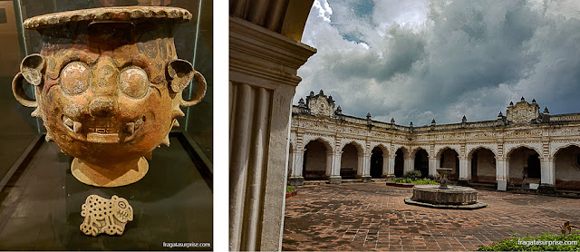 Museus de Antigua Guatemala: Museu de Arte Pré-Colombiana no Colégio dos Jesuítas e Museu Colonial