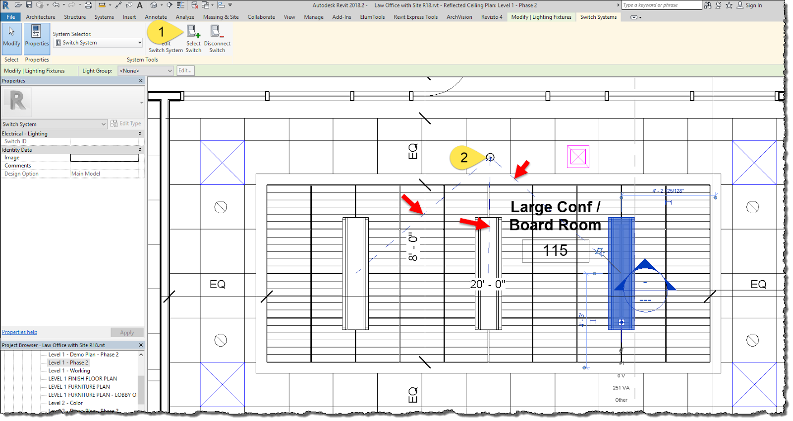bim chapters revit lighting fixtures; switchinga tag can be placed, using the switchid parameter to document which switch controls which lights the big limitation here is we can only assign one switch