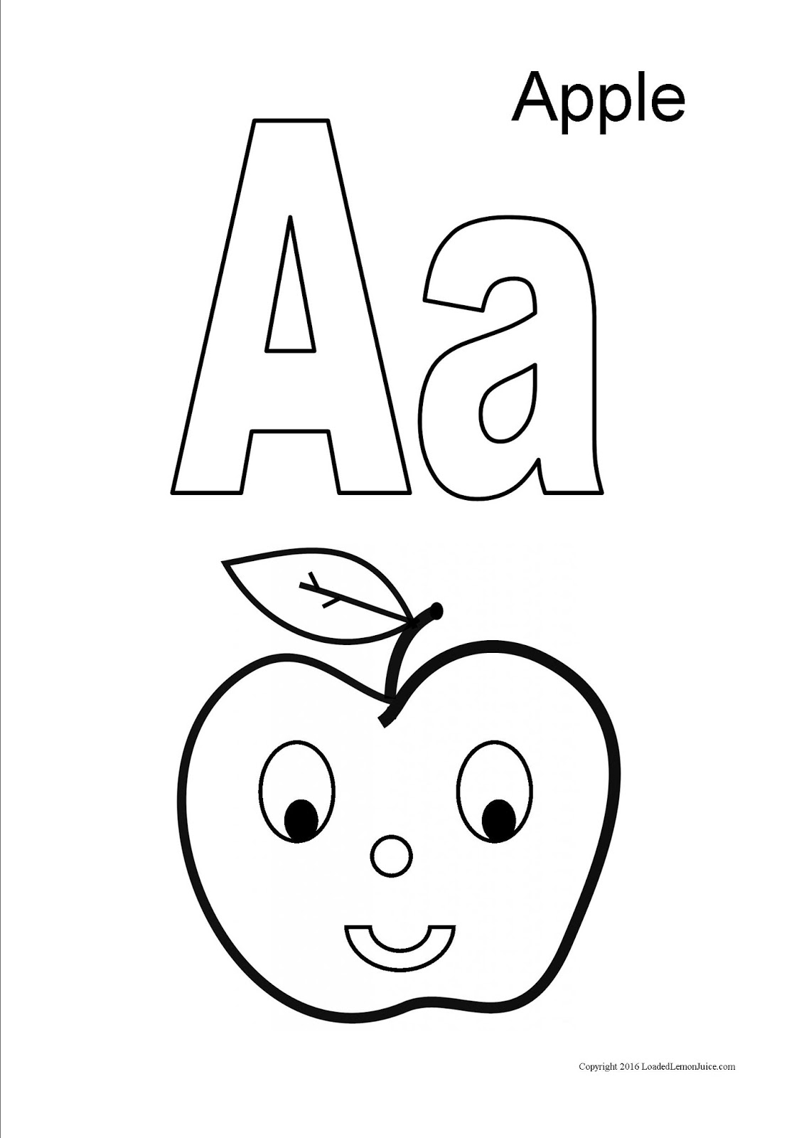 loaded lemon juice preschool letter of the week a is for apple