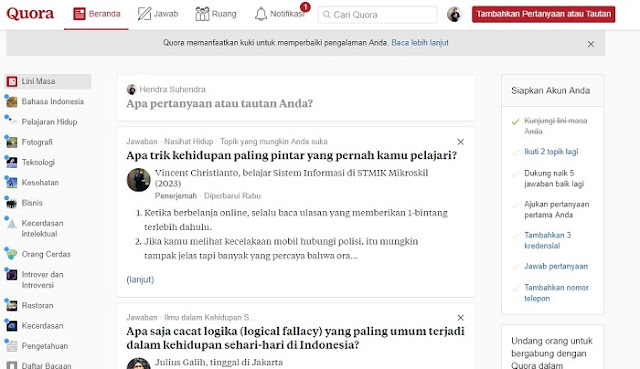 Website Quora - Blog Mas Hendra