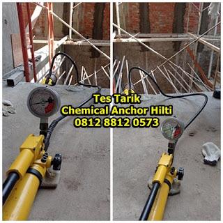 Tes Tarik (Pull Out Test) Chemical Anchor Hilti HIT RE 500 V3 Untuk Besi Rebar