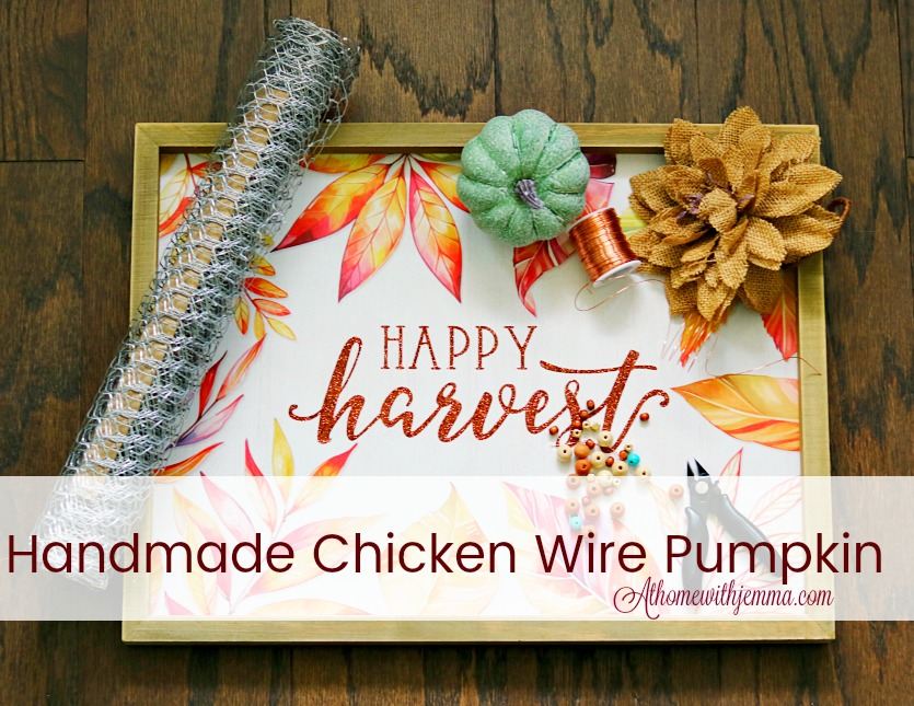 Craft-fall-autumn-pumpkin-chicken-wire-athomewithjemma